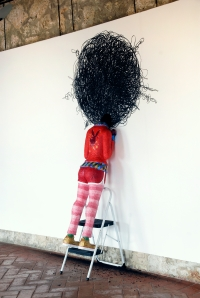 Jorge Pineda Afro issues Installation  2006-2009