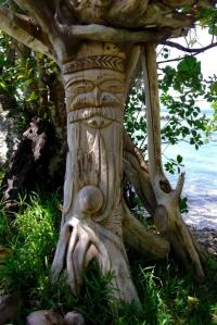 Sculpture du bord de la plage
