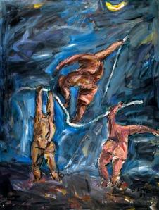 Série Mythologie de la lune1989 Acrylique sur toile