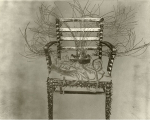 Albert Chong Throne with spirit box & dreadlocks  1990