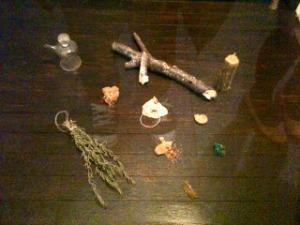 Quelques objets de la vitrine zen