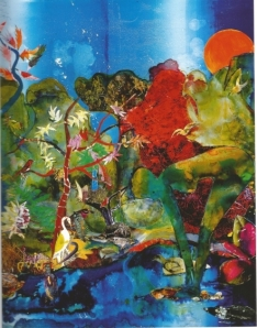 Romare Bearden In the green shade Collage
