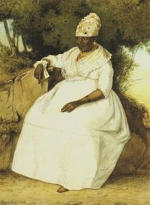 Michel - Jean Cazabon 'French Negress in gala dress'