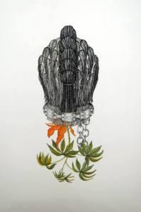 Joscelyn Gardner Créole portraits III Bringing down the flowers