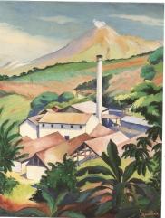 Jules Marillac Saint - Pierre, paysage avec usine vers 1934