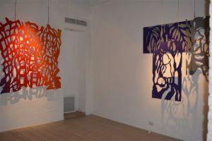 Vue de l'exposition d'Amaya Salazar