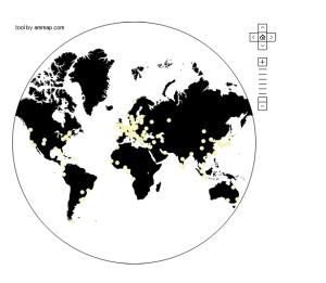 Biennal foundation  Carte des biennales