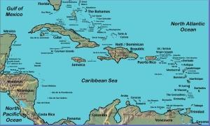 carte caraibe