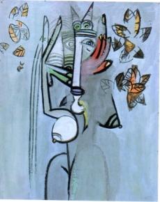 Wifredo Lam  Déesse avec feuillage 1942