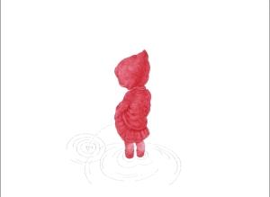 Niñas Rojas, Rafa. 2008 Lapicero de tinta roja sobre papel arches 300gr.  56 x 76 cm. Colección Privada