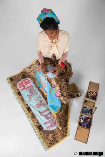 Kelly Sinnapah Mary Photos d'atelier Préparation de Caribbean Crossroads of the world 2014