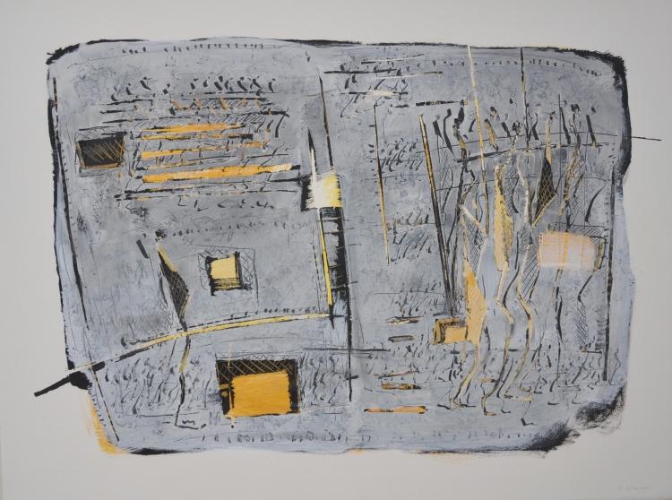 Essai-graphique-nc2b0-6-peinture-acrylique-pigment-sur-papier-marouflc3a9e-sur-toile-77-x-58-cm-2012