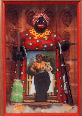 Betye Saar La libération d'Aunt Jemima 1972