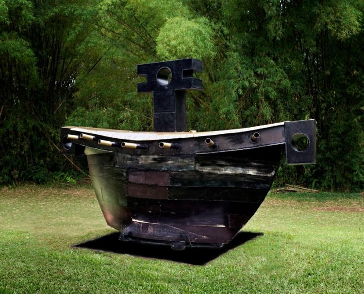 Art contemporain caraïbe Victor Anicet Foudres HSE