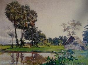 Fig.10 Marc Legauy, paysage lao