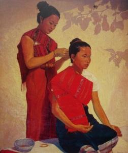 Fig.11. Marc Leguay, femmes se coiffant