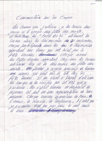 manuscrit de Dubreus Lherisson Couretesy Reynald Lally