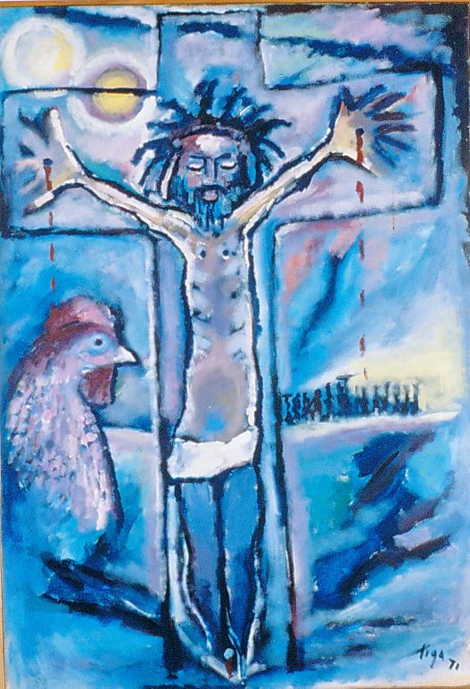 Jean-Claude Garoute (Tiga), Christ 1971, collection privée, Haïti