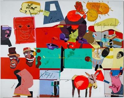 Herve telemaque Fonds d actualite n 1 2002 Coll Centre Pompidou Adagp Paris 2014 ph Philippe Migeat Centre Pompidou © Adagp,Paris 2013