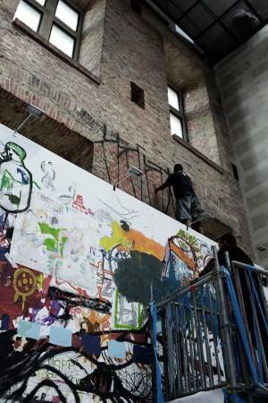 Krypta gang, intervention dans la biennale du vide, São Paulo, 2008