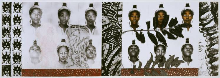 Sonia Boyce From Tarzan to Rambo: English Born 'Native' Considers her Relationship to the Constructed/Self Image and her Roots in Reconstruction 1987 by Sonia Boyce born 1962