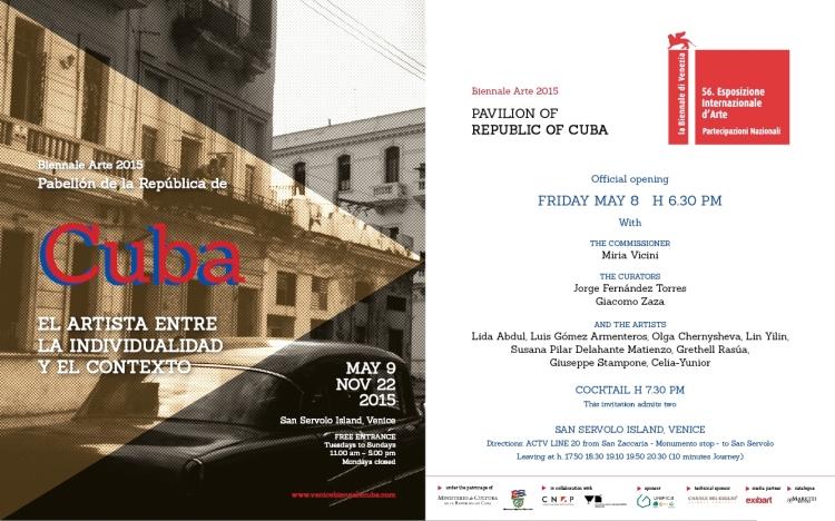 carton d'invitation de la Biennale de Venise