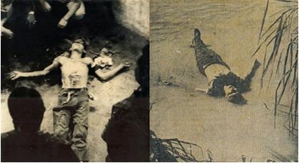 Cara de Cavalo et Alcir Silva morts, photos dans archives d'Helio Oiticica