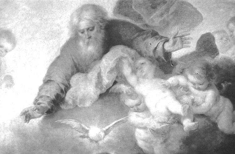 Detail de la Sainte Famille avec Jean Baptiste de Murillo (le Louvre)