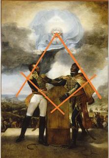 Croquis montrant la composition du tableau : Le Serment des Ancêtres