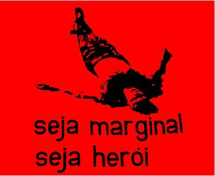 Sois marginal, sois héros, Helio Oiticica, 1968. Bannière séregraphiée