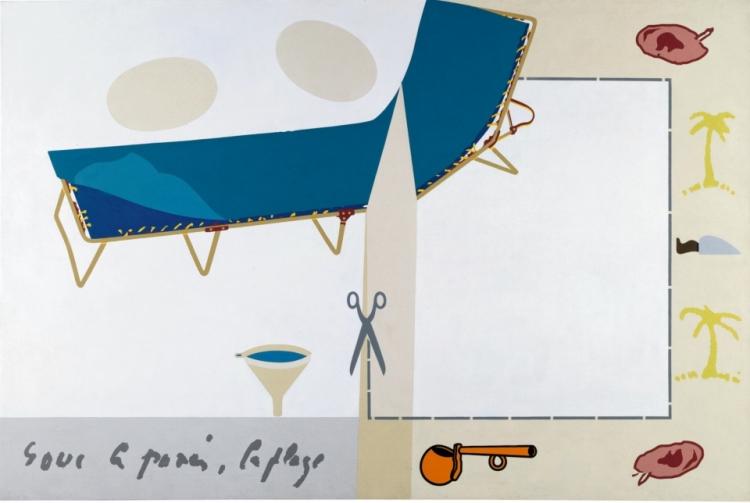 Objets usuels, pour Vincent van Gogh 1970 Huile sur toile 120,5 x 180,4 x 6 cm Paris, Centre Pompidou, Musée national d'art moderne Acquis en 1972
