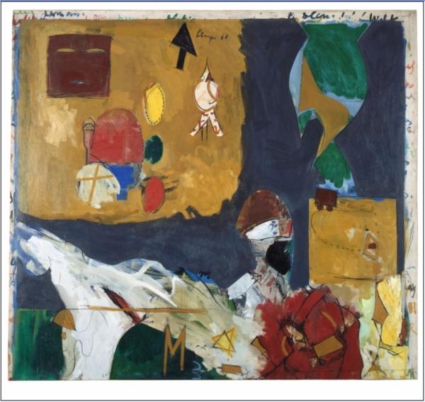 Toussaint Louverture à New York 1960 Huile sur toile 176,9 x 195 cm Dole, musée des Beaux-Arts Acquis en 1988