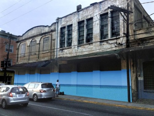 Blue Curry – PARADISE.jpg, mock-up of installation on Port Royal Street2