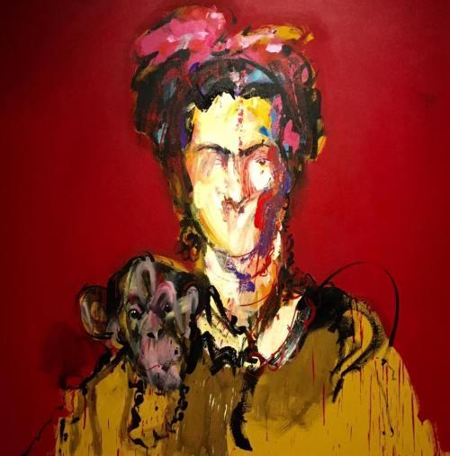 Jose Pelletier Frida Acrylique sur toile 140 x 140 cm 2016