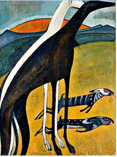 Amadeo de Souza, Les lévriers , 1911