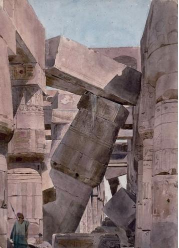 Charles Gleyre, Intérieur du Temple d'Amon, Carnac, 1835