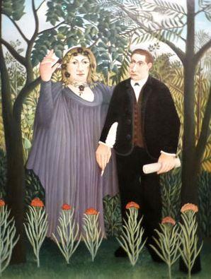 la Muse inspirant le poète, 1909, huile sur toile, 146 X 97 cm