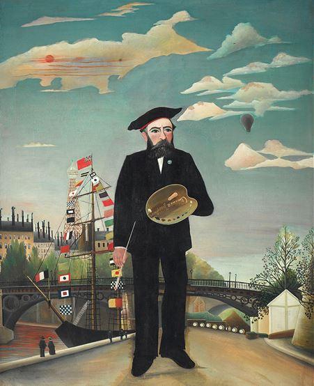 Moi-même, portrait-paysage, 1890, huile sur toile 143 X 110 cm