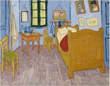 Vincent van Gogh La chambre de Van Gogh à Arles , 1889 ,Huile sur toile