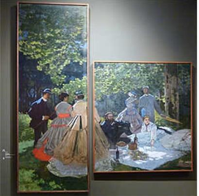 Claude Monet, Fragment du Déjeuner sur l'herbe, 1865 Paris