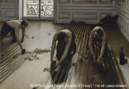 Gustave Caillebotte Les raboteurs de parquet 1875 Huile sur toile – photo Musée d'Orsay
