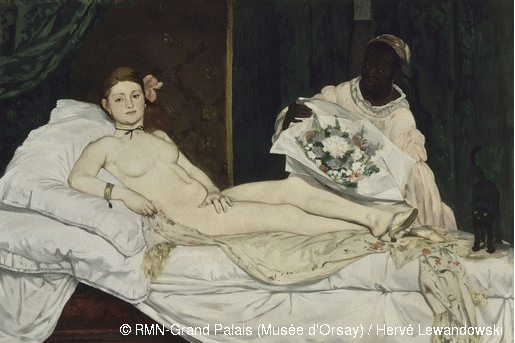 Edouard Manet Olympia 1863, huile sur toile – photo Musée d'Orsay