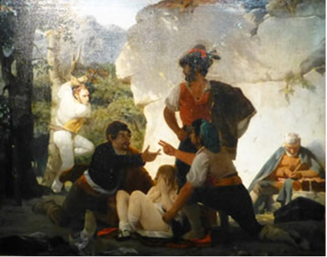 Charles Gleyre, Les Brigands romains, 1831, huile sur toile