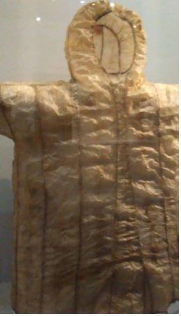 inuptiat début du XX siècle, intestin de phoque barbu, tendon, peau d'oiseaux