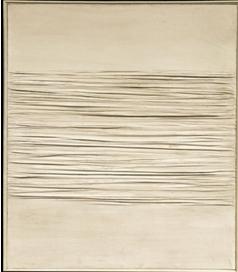 Piero Manzoni, Achrome , 1959 140 x 120,5 cm - kaolin sur toile plissée