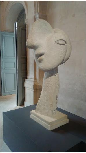 """Pablo Picasso, """"Tête de femme"""", 1931-1932, ciment"""