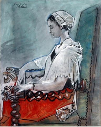 . Picasso, Portrait de Paule de Lazern en Catalane, 1954