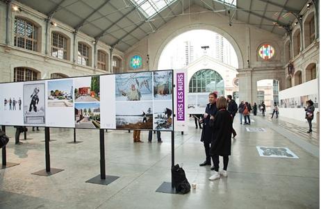 Le 104. Vue générale du festival de la jeune photographie européenne « Circulations 2016 ».