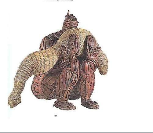 andries-botha-still-life-1995-metal-gousses-de-flamboyant-chaume-riz