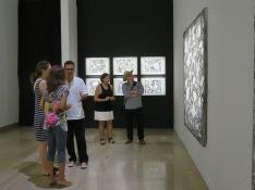 Visite de l'exposition de Ricardo Ozier - Lafontaine ,Tropiques Atrium